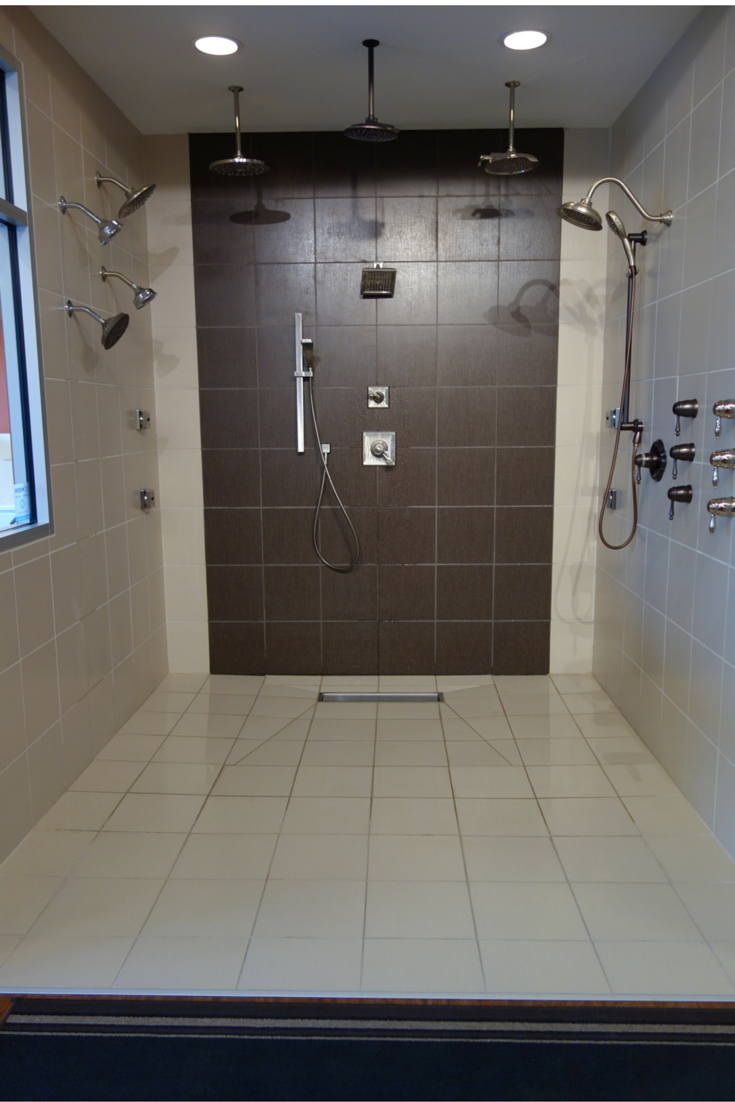 7 Myths About One Level Curbless Showers Budget Bathroom Remodel Bathroom Shower Organization Bathrooms Remodel