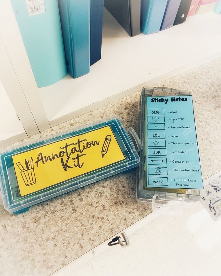 Annotating & Close Reading Printable Sticky Notes Close