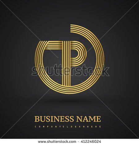 Elegant Gold Letter Symbol Letter P Logo Design Vector Logo Design