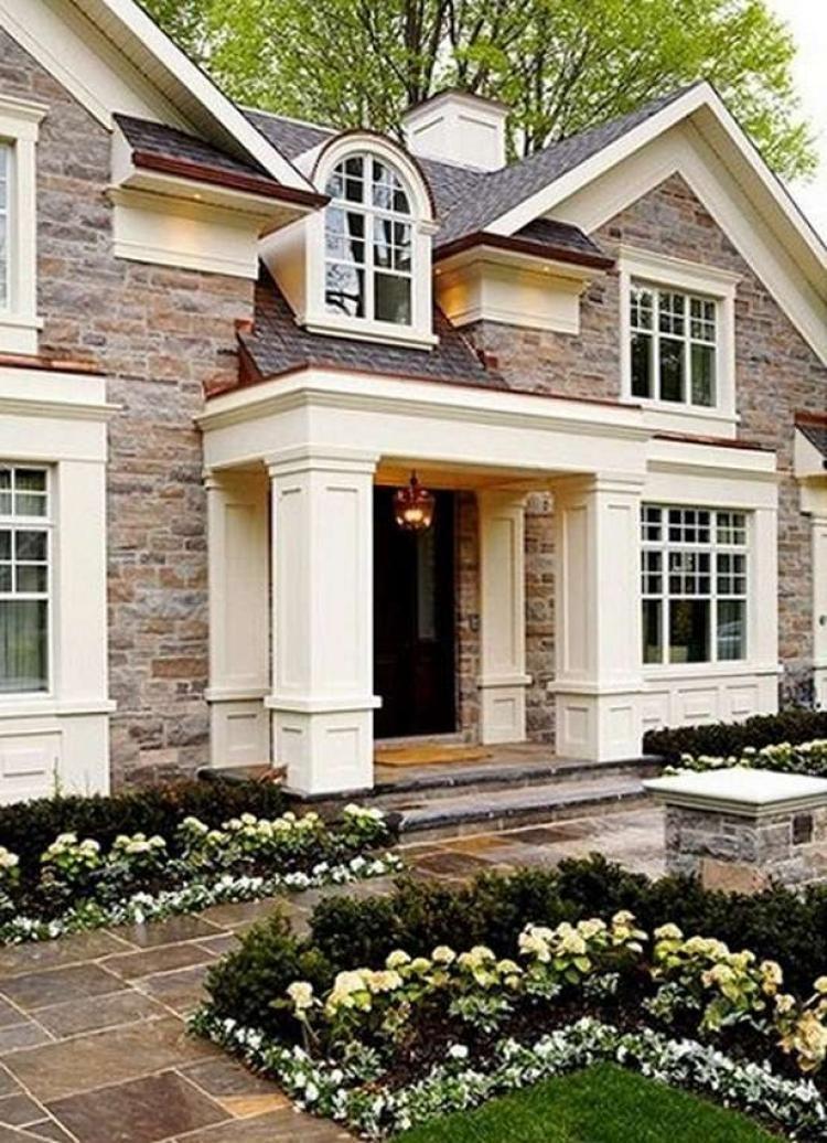 63 Wonderful Stone Brick House Exterior Ideas Exteriordesign Exteriorpaint Exteriordesigncolor Beautiful Homes House Exterior My Dream Home