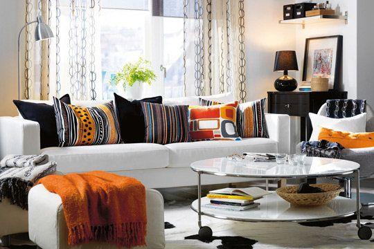 Salon Changer De Deco Sans Changer De Meubles Decoration Salon Couleurs Chaudes Mobilier De Salon Ikea Deco