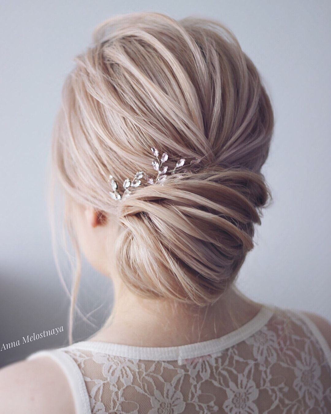 Simple Wedding Hair Ideas: Simple Beautiful Bridal Updo ,chignon ,wedding Updo