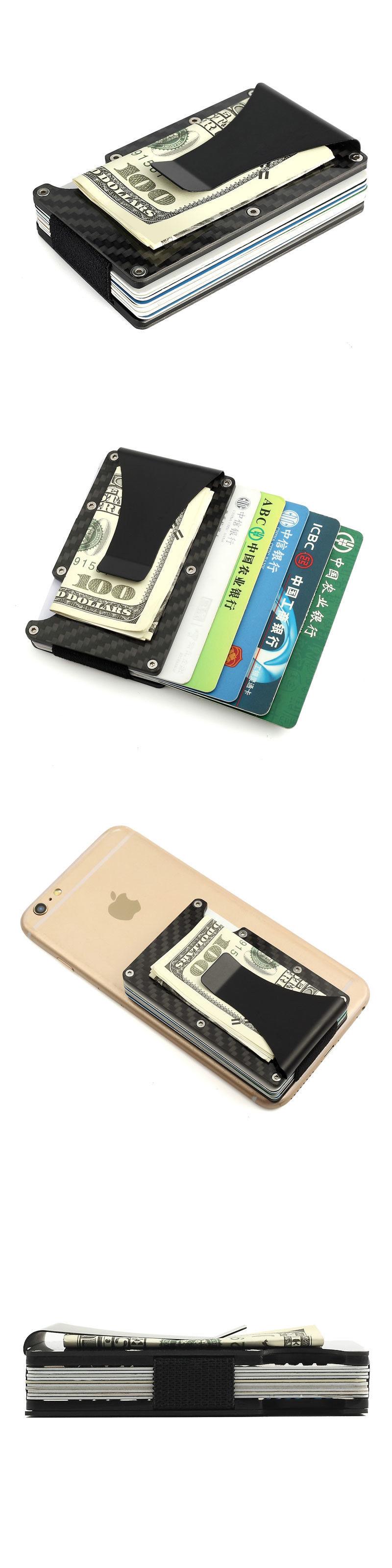 Money Clips 163583: Carbon Fiber Metal Mini Money Clamp Rfid Credit ...