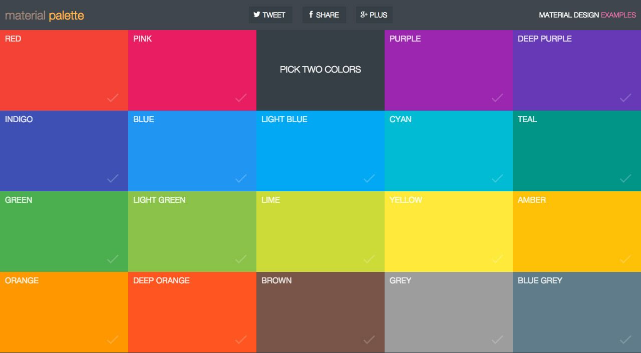 Material Palette Is A Single Serving One Pager By Matt Aussaguel