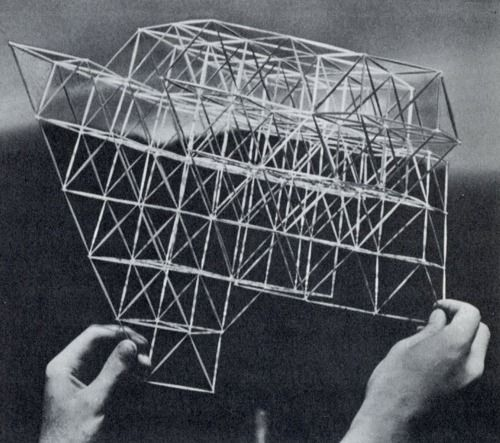 R. Buckminster Fuller: Conceptuality of Fundamental Structures from Structure in Art and in Science, edited by Gyorgy Kepes, George Braziller, NY, 1965