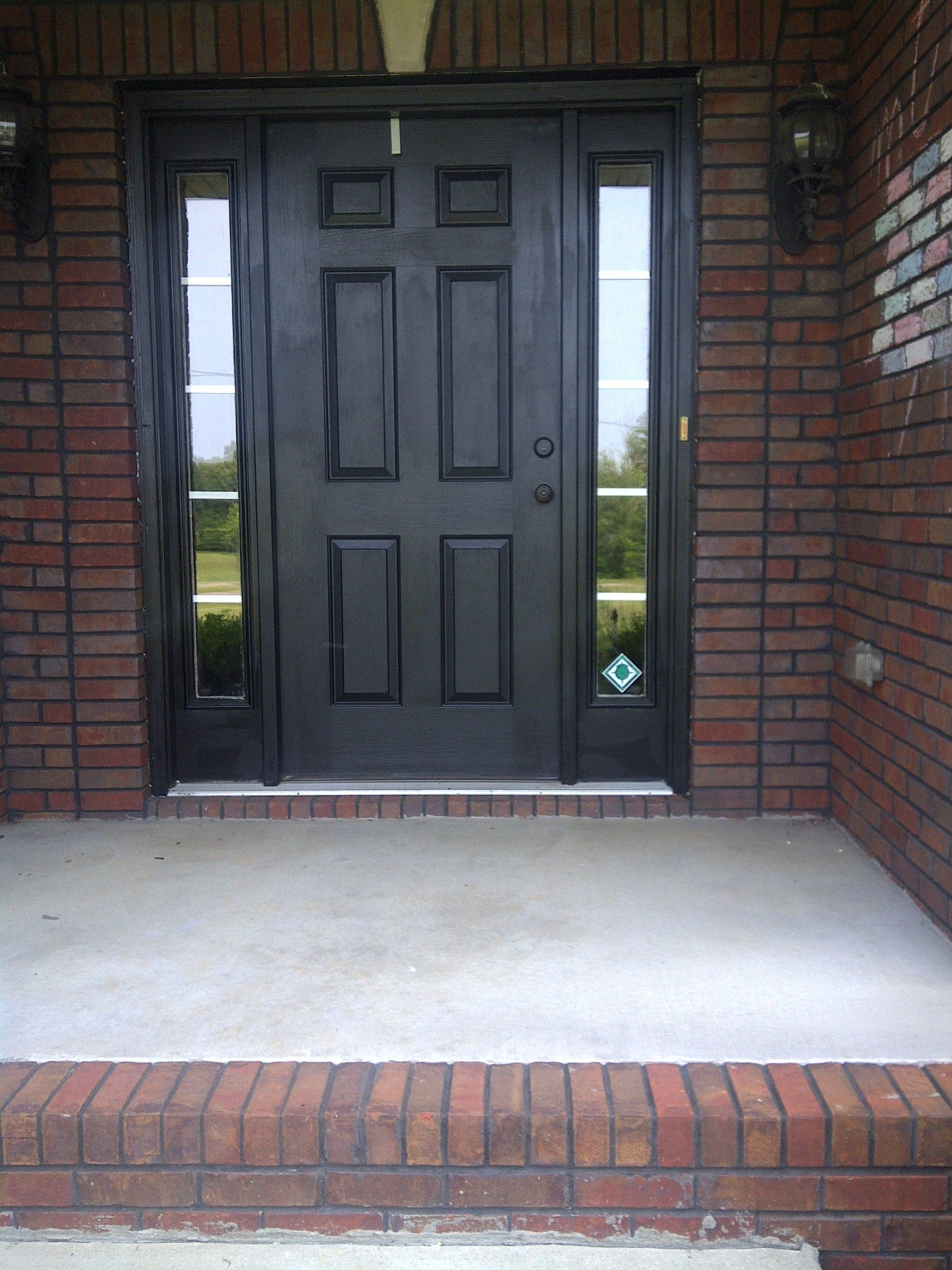 My new black front door should have taken picture of for Side doors for houses