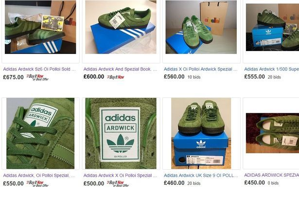 f5451cb044854 ... top quality rare adidas ardwick trainers now for sale on ebay at 750  for one pair