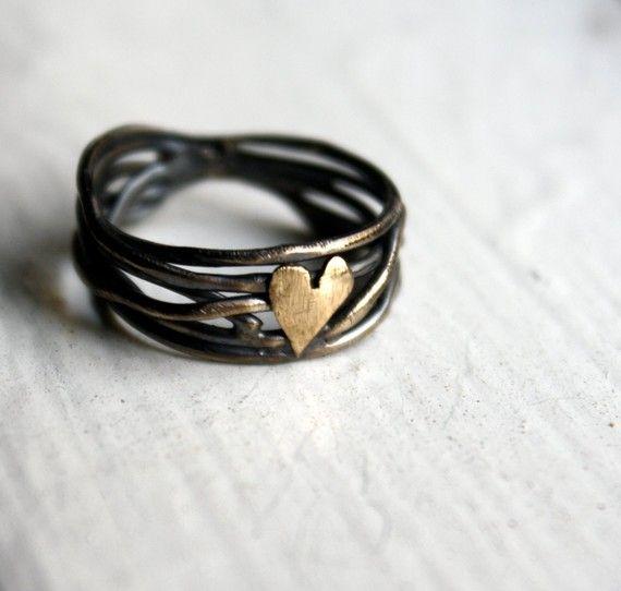 Nested heart ring.