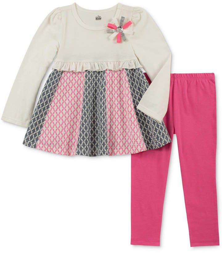d2c403114d41 Toddler Girls 2-Pc. Long-Sleeve Printed Tunic & Leggings Set  #highlights#applique#sleeve