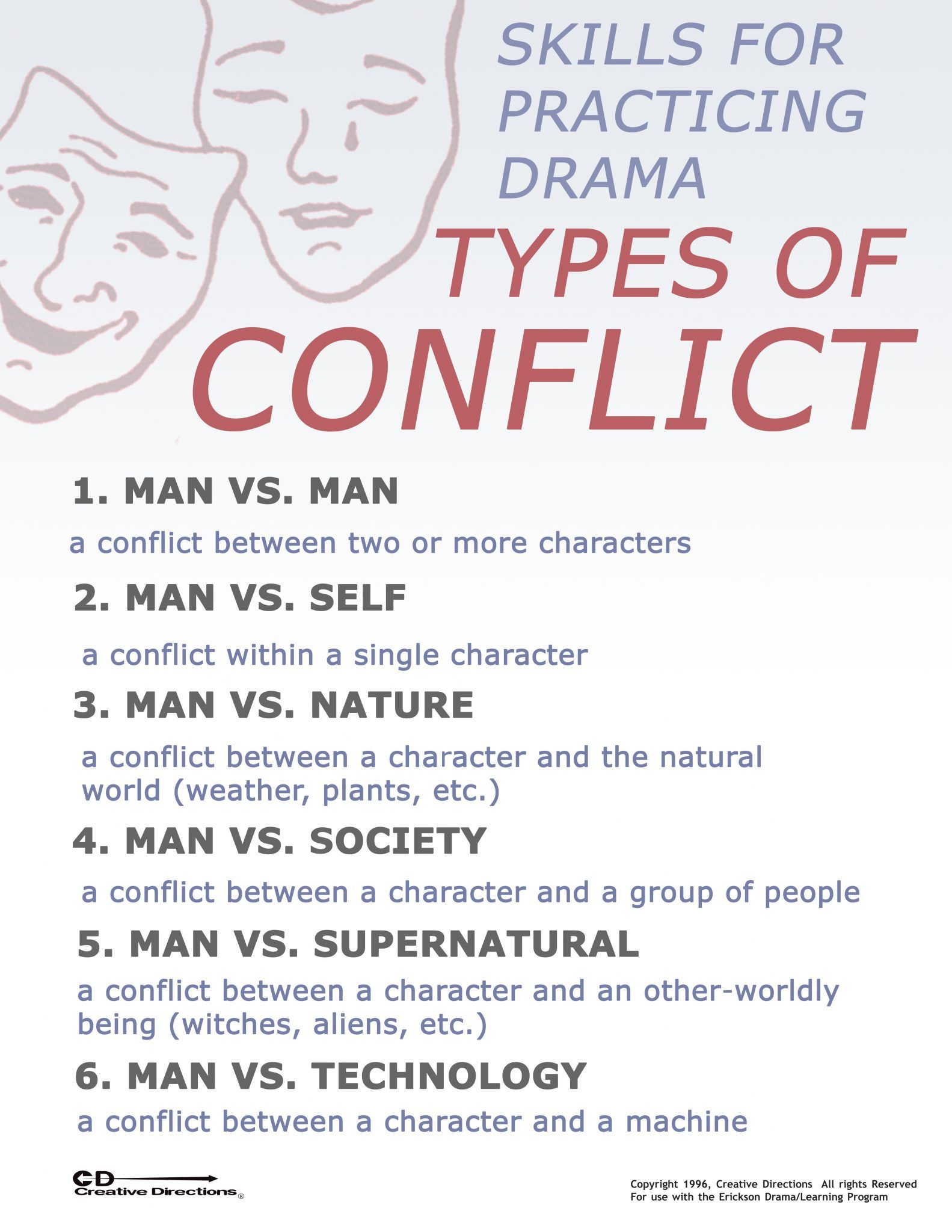 Types Of Conflict Google Search Types Of Conflict Teaching Drama Worksheet Template