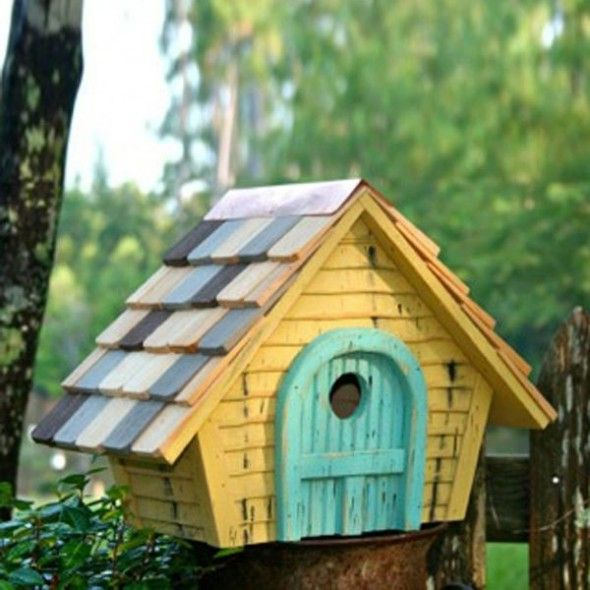 Birdhouse Design Ideas wonderful design of birdhouse design ideas seems like traditional house of indonesia created from wooden material Sweet Small Painted Bird House Ideas Design Birdhouse Design Ideas