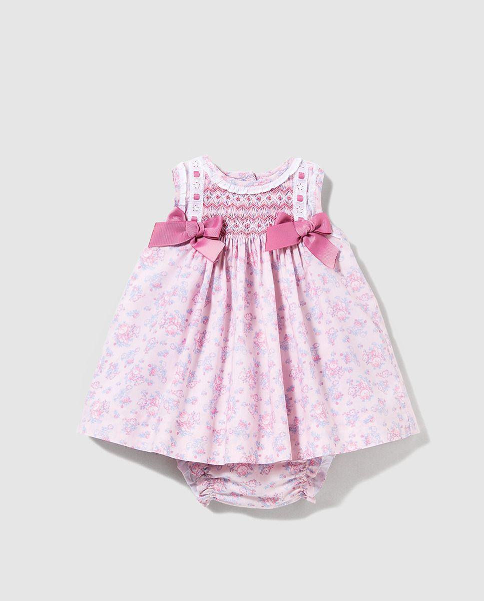 b4333bae7 Vestido de bebé niña Dulces con smock