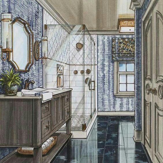 Mappen Architektur Interior Design Skizzen Innenausstattung Simulation Innenarchitektur Handzeichnungen