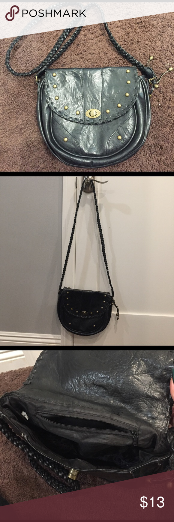 Cross body bag Bought this from tillys a while ago, lightly used and  in Great condition! Purse is lined with one zipper pocket inside Bags Crossbody Bags