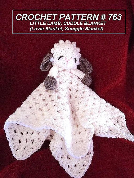 Crochet Pattern Little Baby Lamb Cuddle Blanket By Hectanooga