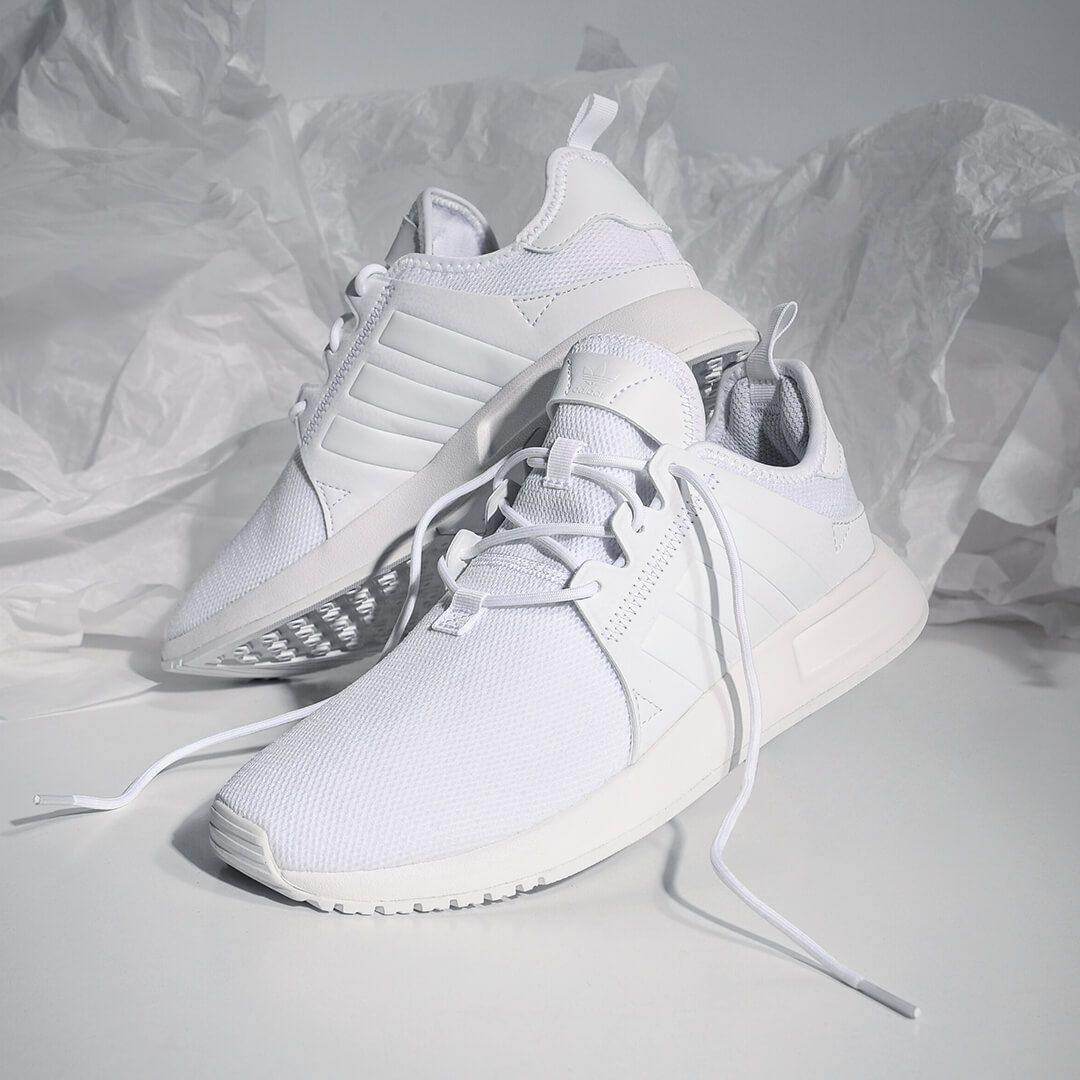 adidas all white runners