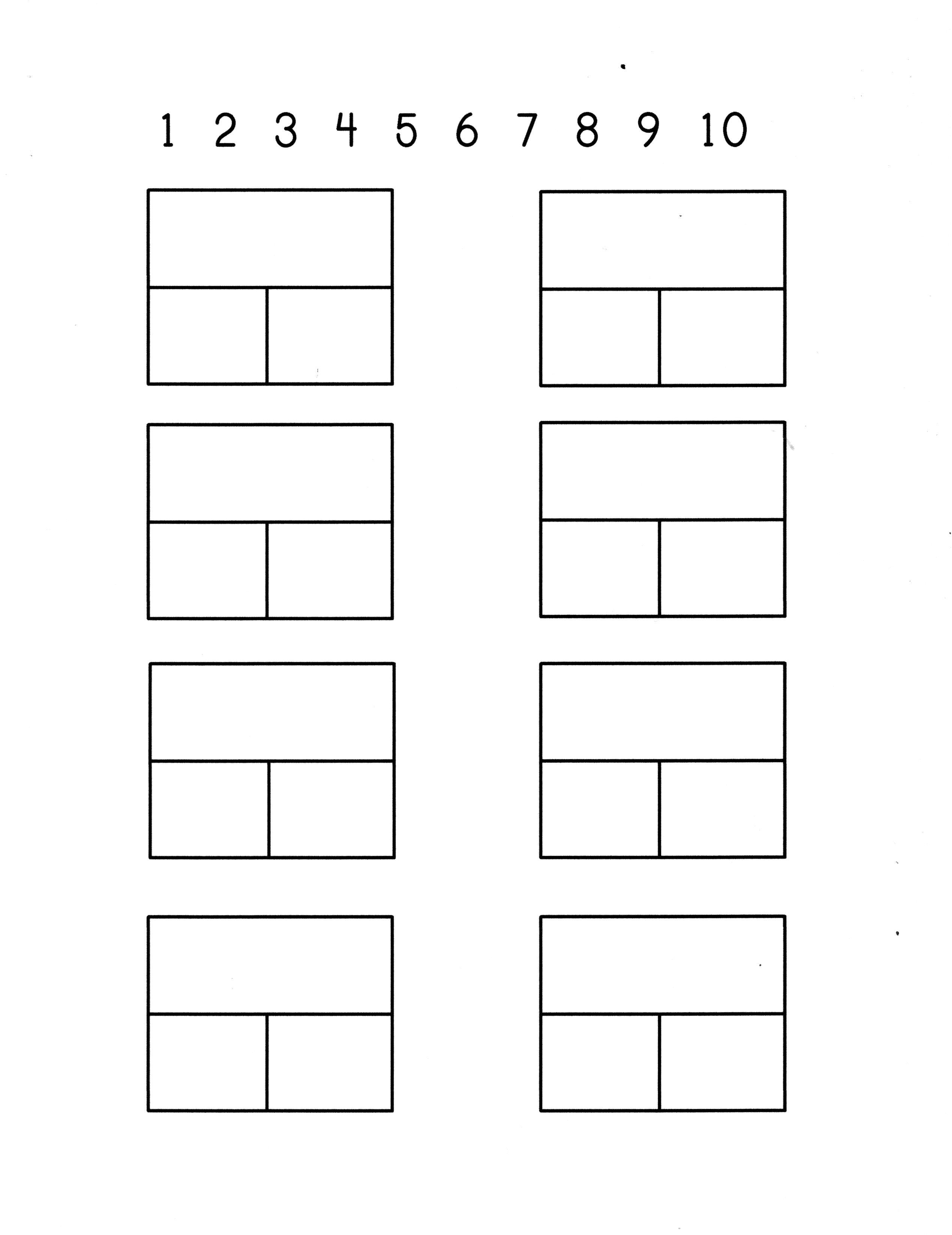 part + part = whole Dominos math sheet, blank. Number line at the ...