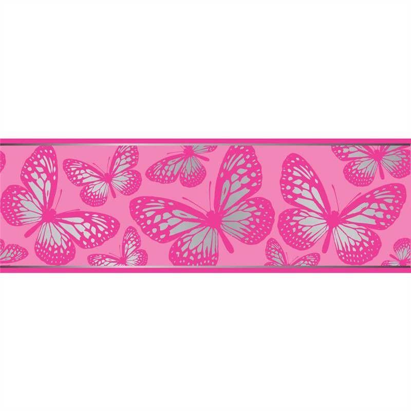 pink butterfly wallpaper bo31270 pink silver