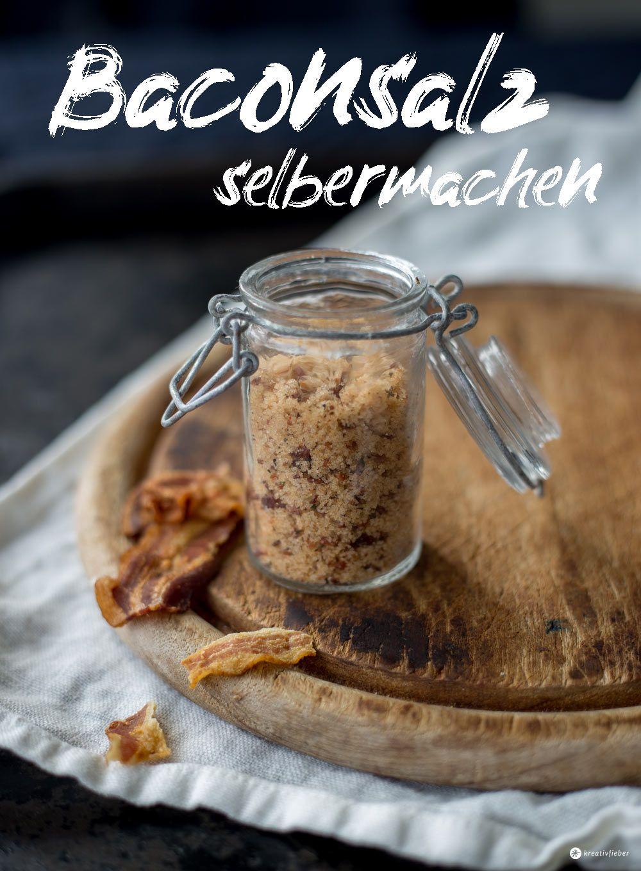 DIY Geschenkidee zum Vatertag - Baconsalz selbermachen - DIY Salz #father