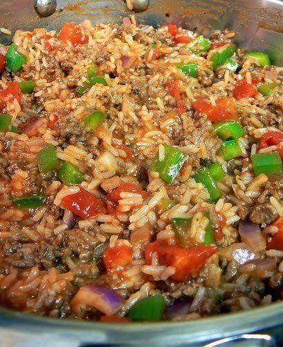 Hamburger Rice Skillet Beef Dinner Recipes Meat Recipes