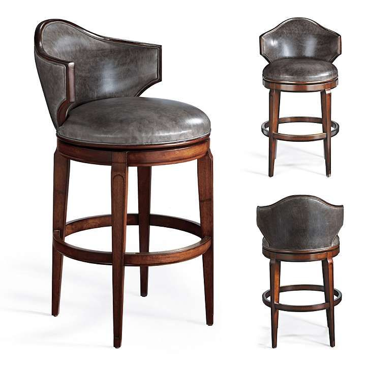 Nicholson Low Back Swivel Bar Stool Bar Stools With Backs Bar
