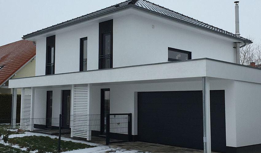 Relativ Bildergebnis für stadtvilla weiß anthrazit | Stadtvilla Fassade in EK45
