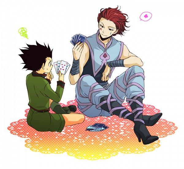 Hisoka and Gon playing cards