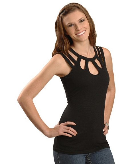 Cripple Creek Cut Out Tank Top from Sheplers.