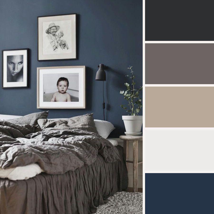 Dormitorio Azul Oscuro Color Schemes Bedroom Blue