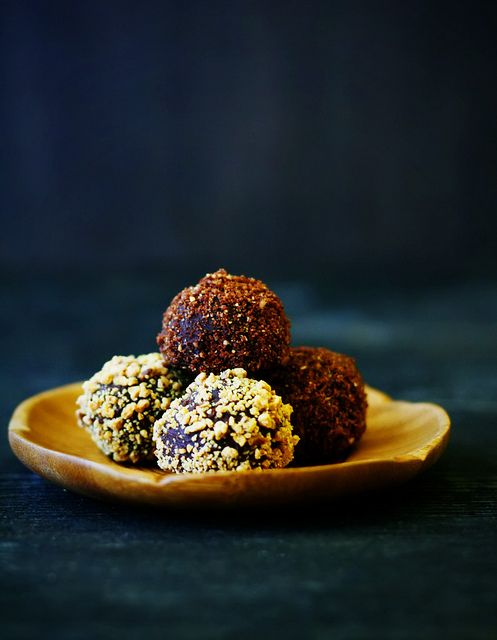 Salted Caramel Chocolate Truffles by Citrus and Candy, via Flickr