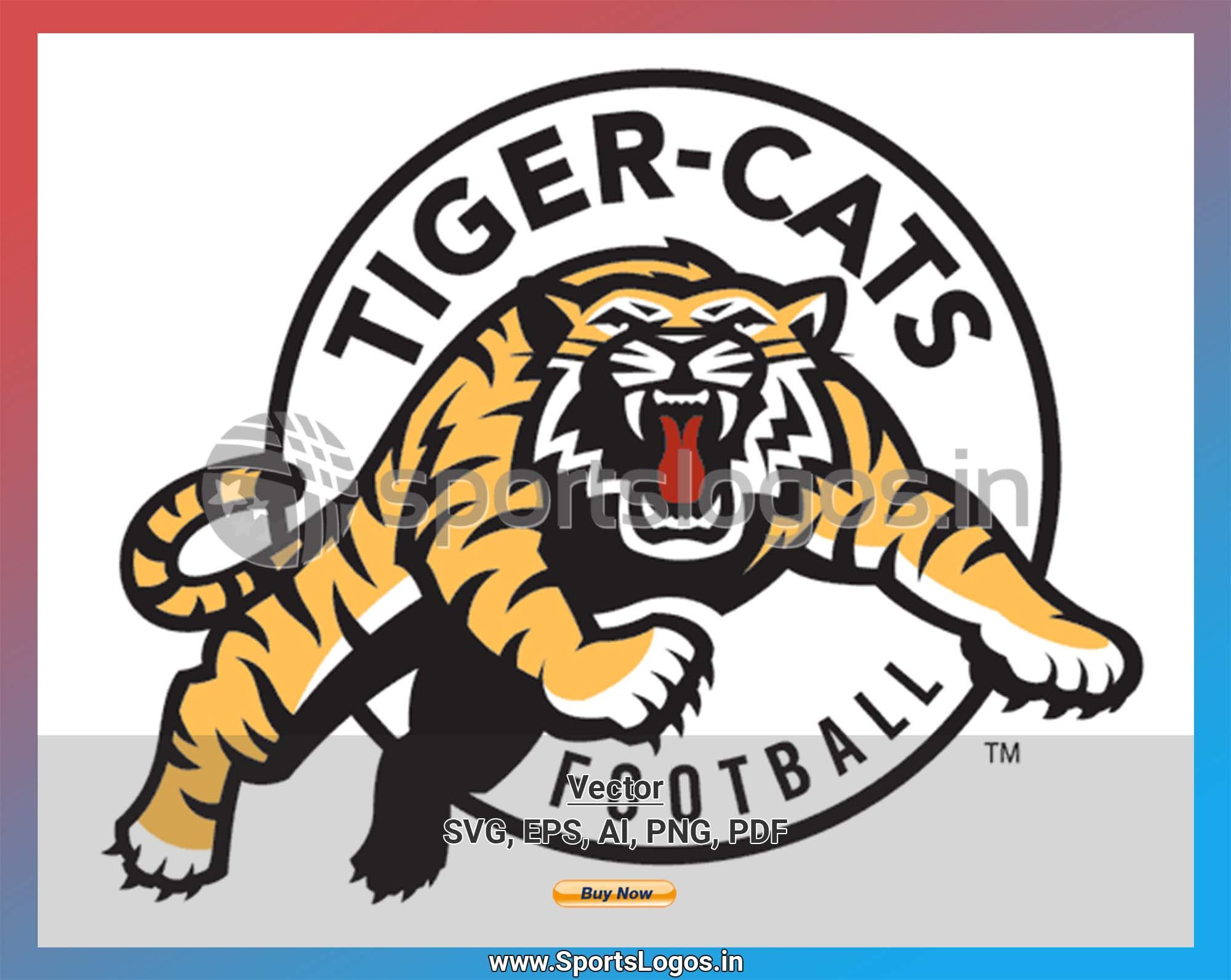 Hamilton Tiger Cats Football Sports Vector Svg Logo In 5 Formats Spln001734 Sports Logos Embroidery Vector For Nfl Nba Nhl Mlb Milb And More Cat Logo Canadian Football League Embroidery Logo