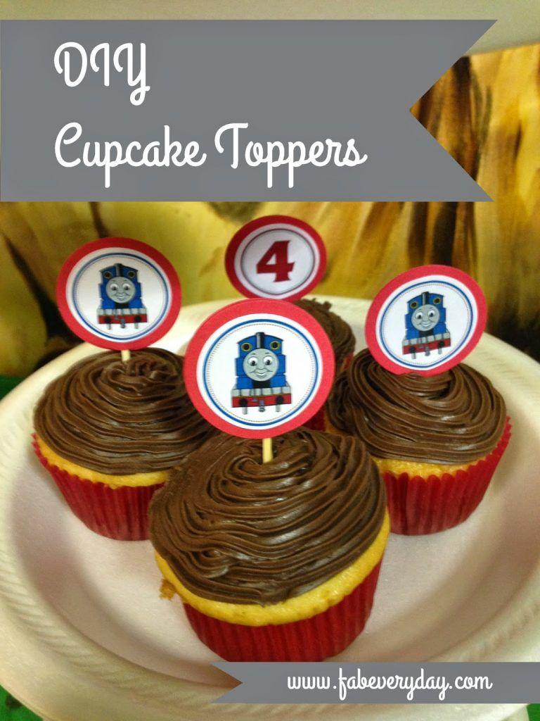 DIY Cupcake Toppers in 2020 Cupcake toppers diy, Diy