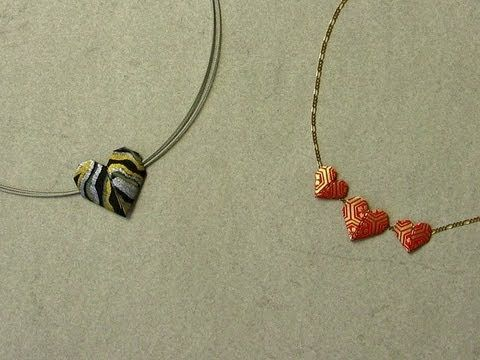 Origami Heart Necklace Instructions Love With Strings Attached