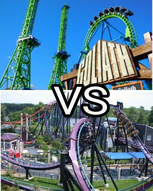 Goliath Or Batman The Dark Knight Which Roller Coaster Do You