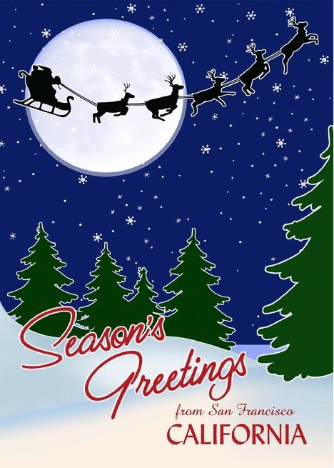 Customizable Season's Greetings from Your Town, California card ,