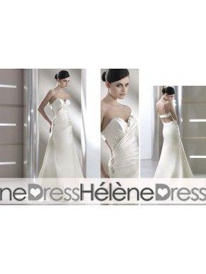 Superior Sheath/Column Sweetheart Sleeveless Floor-Length Chapel Beaded Wedding Dresses