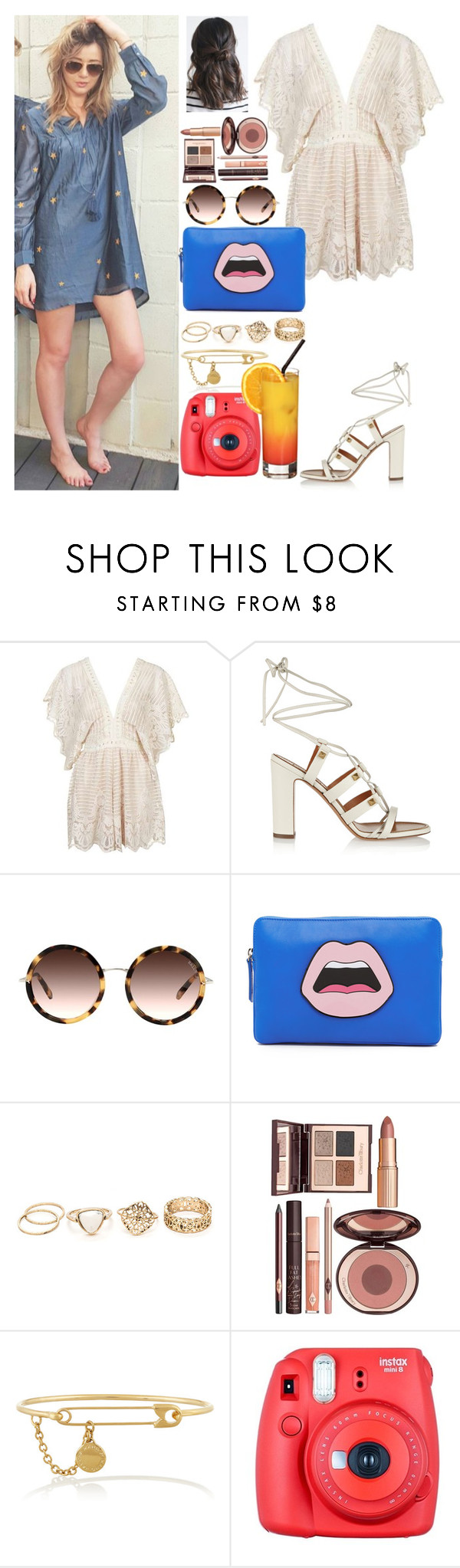 """Lazy day with Eleanor"" by zandramalik ❤ liked on Polyvore featuring Topshop, Valentino, Yazbukey, Charlotte Tilbury, Marc by Marc Jacobs and Fuji"