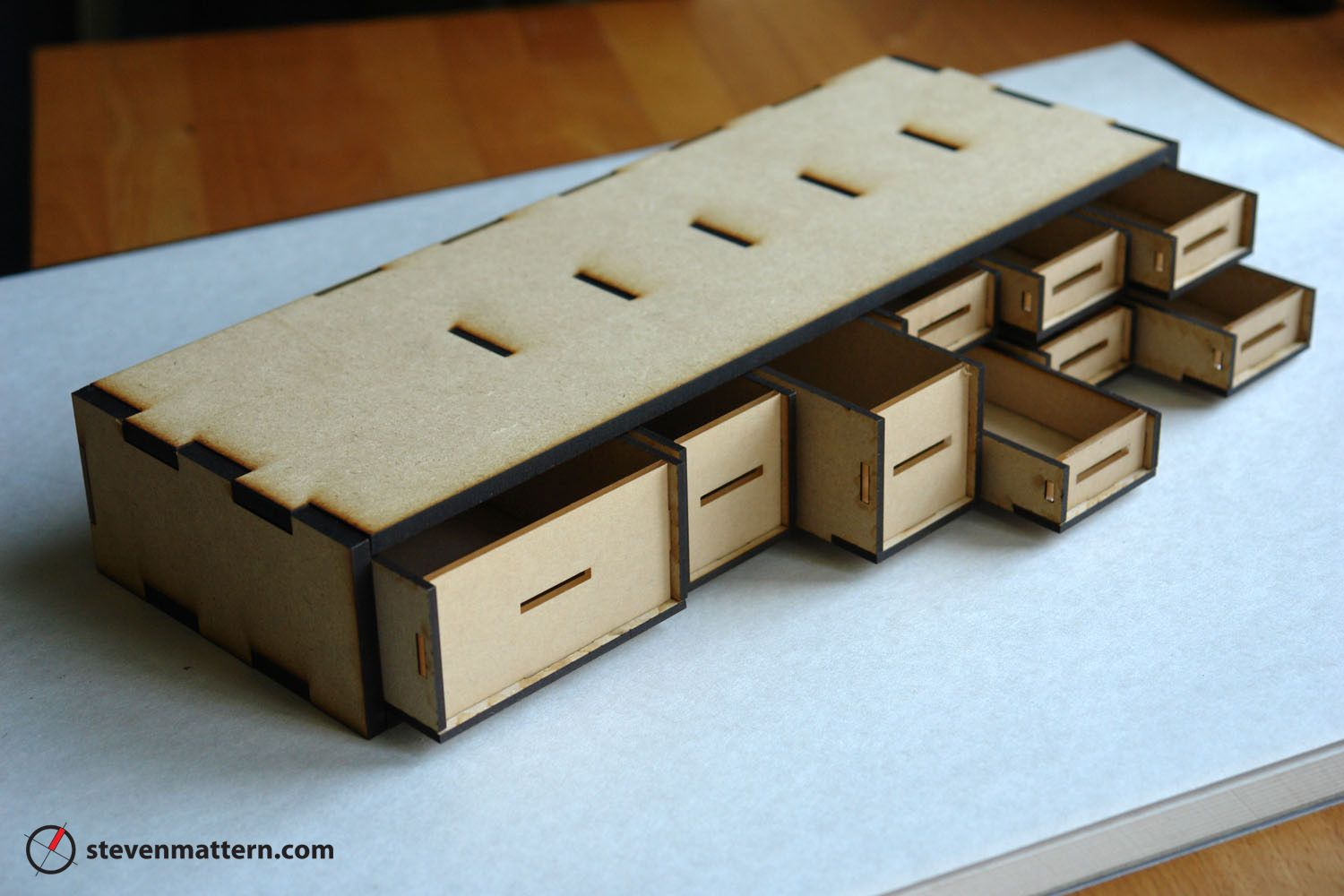 Organizer Box with Drawers - MDF & Acrylic | Boxes | Pinterest ...