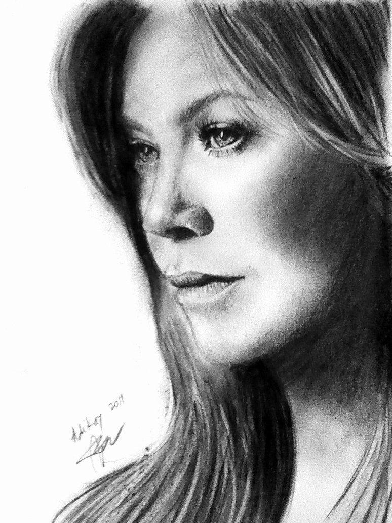 Ellen Pompeo - Portrait by ADIKAY on DeviantArt | People and faces ...