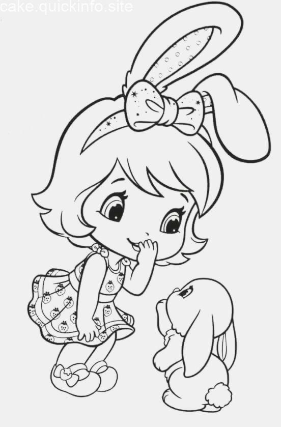 Baby Strawberry Shortcake And A Bunny Cartoon Coloring Pages Cute Coloring Pages Strawberry Shortcake Coloring Pages