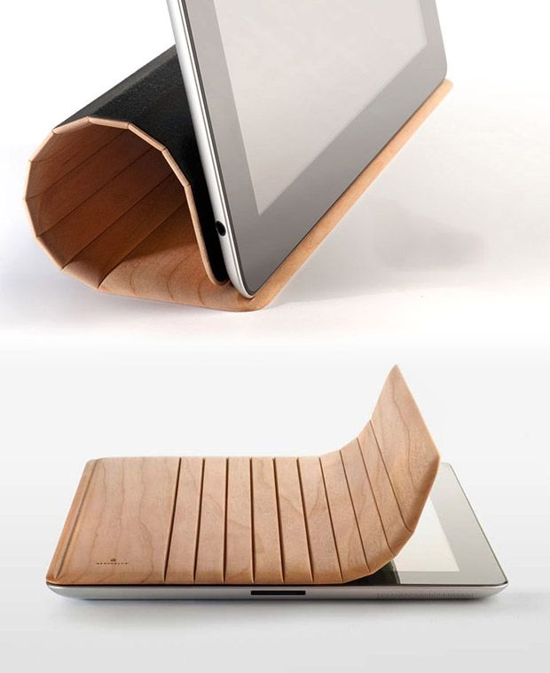 The gorgeous organic and high tech synthesis   Miniot Ipad 2 Wood Cover