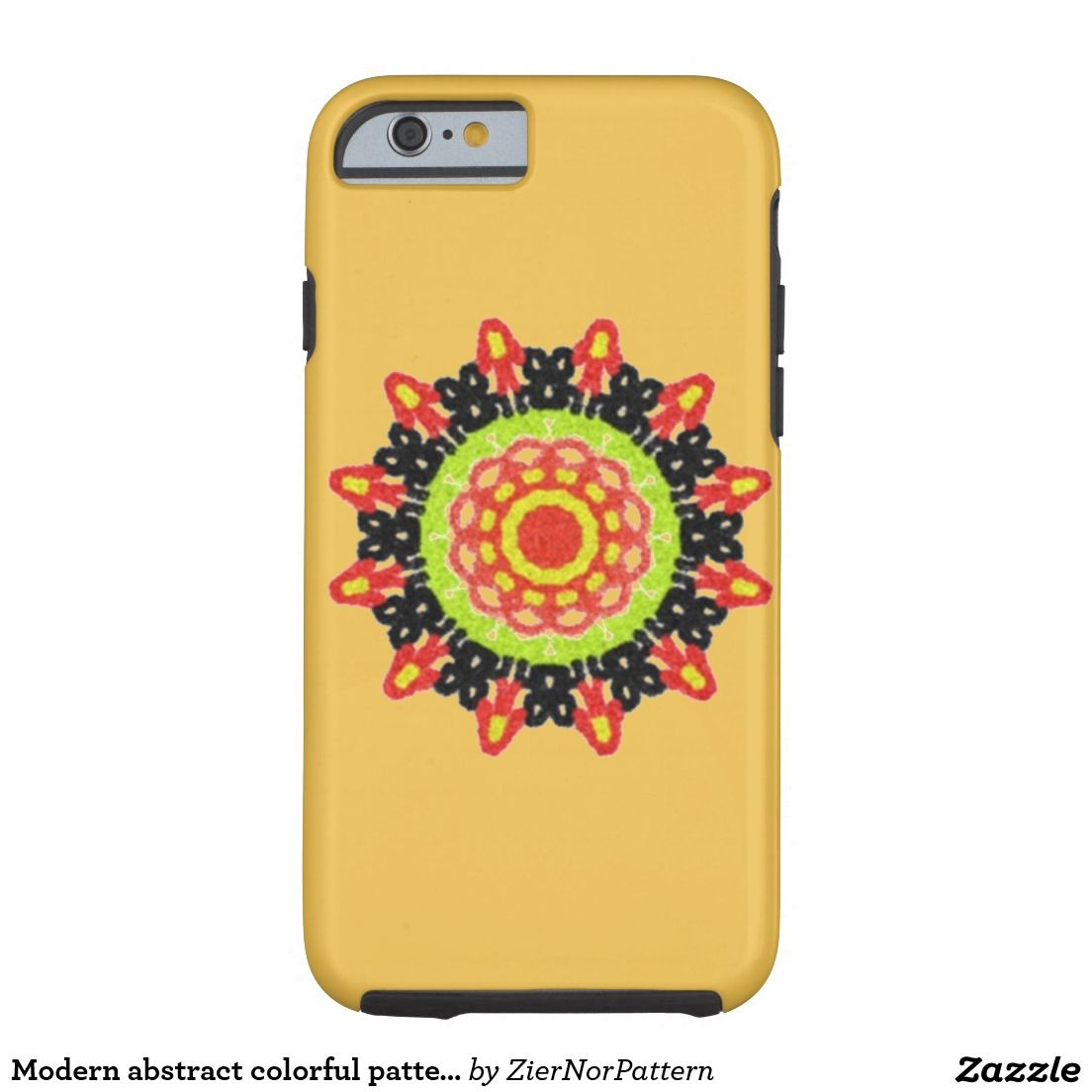 Modern abstract colorful pattern tough iPhone 6 case