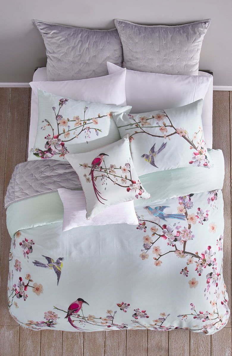 Ted Baker London Cherry Blossom Print Duvet Cover Sham Set
