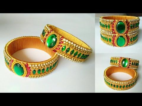 how to make thread designer bangles