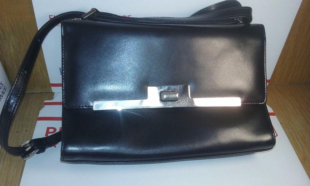 Medici Designer Black Leather Clutch Purse Y Pee Classy Handmade Germany Ebay Handbags