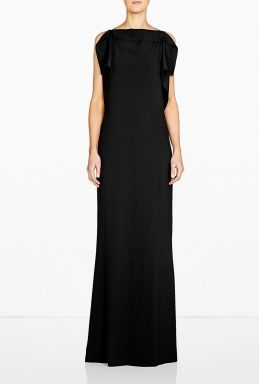 the best attitude 2c0bd 02ac9 Frill Crepe Column Dress by Philosophy di Alberta Ferretti ...