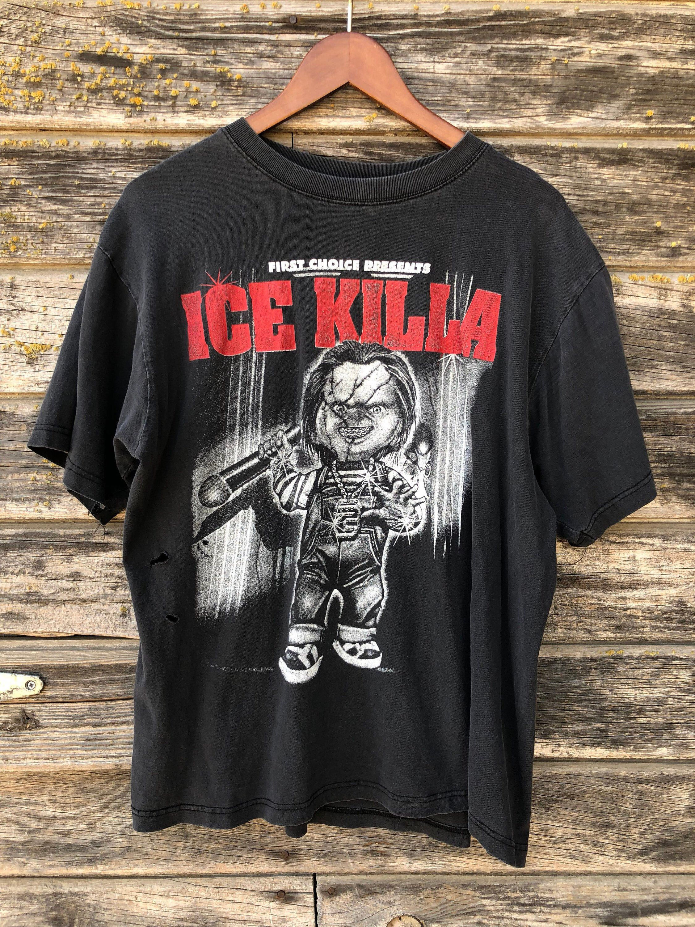 8f612289d5c Vintage Ice Killa Chucky T-shirt L large vtg faded black graphic tee 90s  grunge distressed shirt First Choice Presents