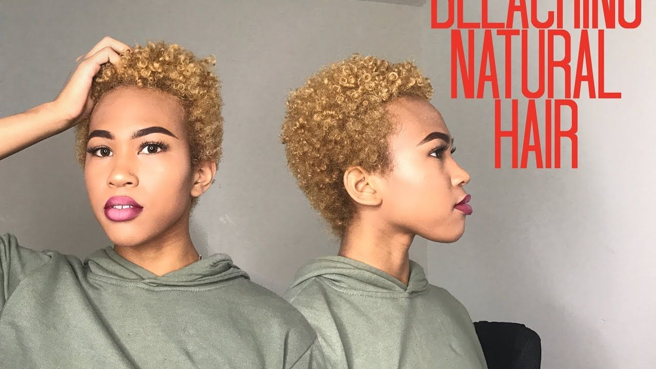 How To Bleach Naturally Curly Hair Black To Brown To Blonde