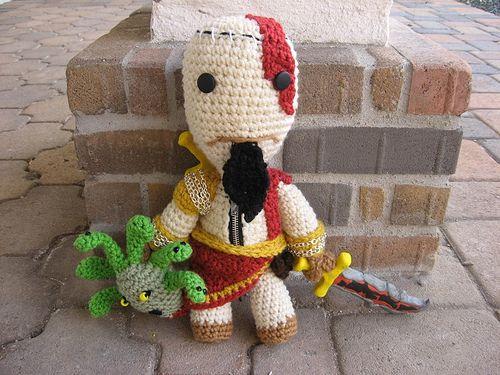 Kratos-Sackboy-03 | dolls | Pinterest | Amigurumi, Crochet and Dolls