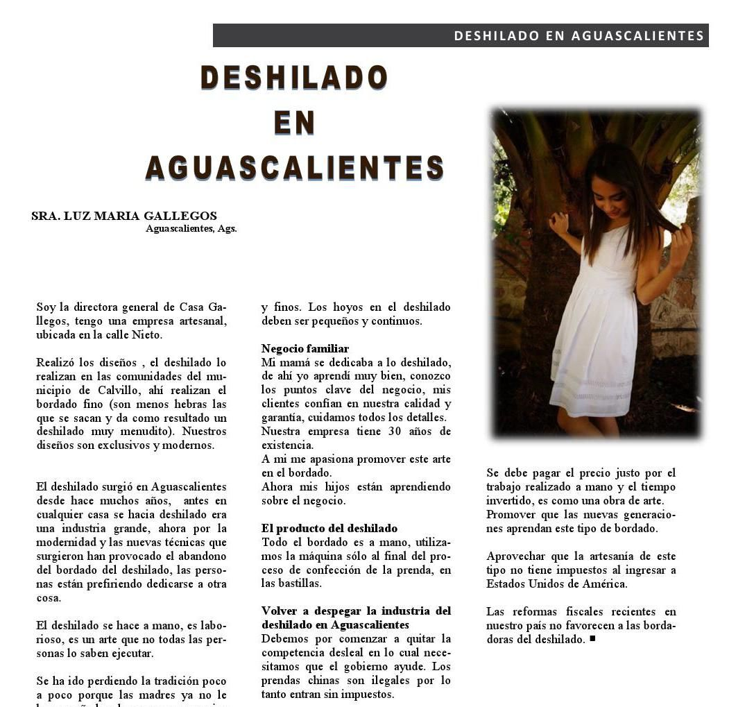 #Deshilado en #Aguascalientes  #Revista400 #DesarrolloSustentable @400revista #IndustriaTextil  from Revista 400 Abril 2015